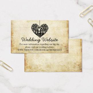 Tarjeta De Visita Web site colgante del boda del vintage del árbol