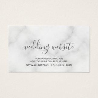 Tarjeta De Visita Web site de mármol blanco elegante del boda