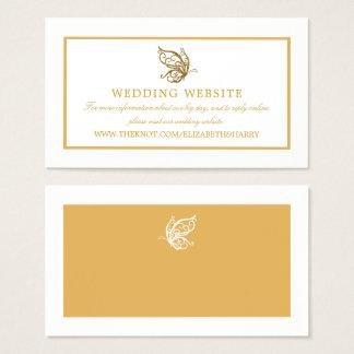 Tarjeta De Visita Web site del boda de la mariposa del brillo del