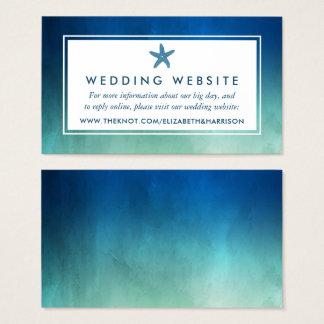Tarjeta De Visita Web site del boda de playa de las estrellas de mar