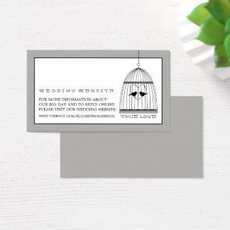 Tarjeta De Visita Web site del boda del Birdcage del corazón del