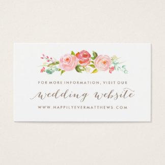 Tarjeta De Visita Web site floral del boda de la rosaleda de doble