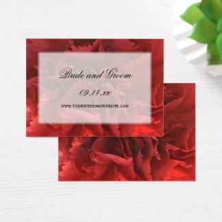 Tarjeta De Visita Web site floral rojo del boda