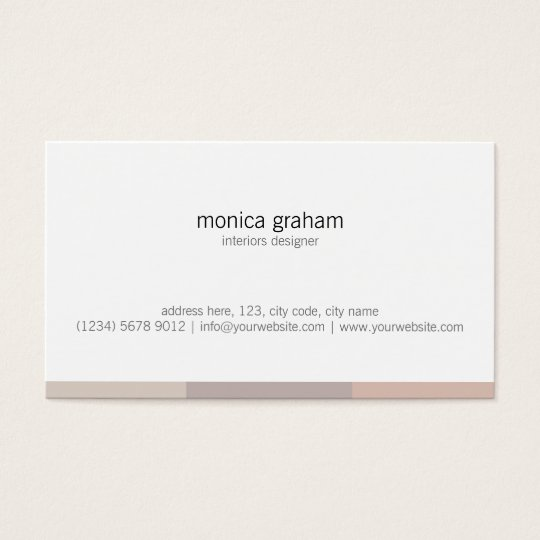 Tarjeta De Visita White brown pink stripe retro minimal cute card