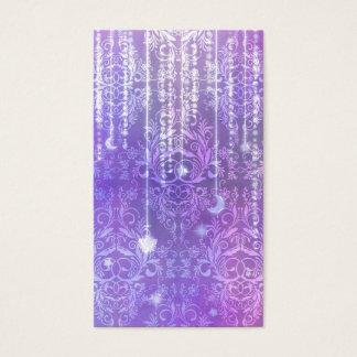 Tarjeta De Visita Wildflowers del damasco, SEÑORA VALESKA en púrpura