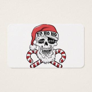 Tarjeta De Visita Yo ho ho - pirata santa - Papá Noel divertido