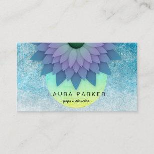 Tarjeta De Visita Yoga holística de la flor de Lotus de la