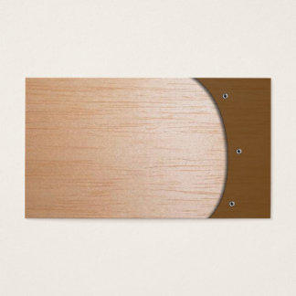 Tarjeta de visitas - de madera