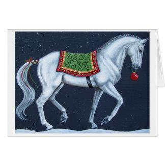 Tarjeta de Warmblood del Dressage del navidad