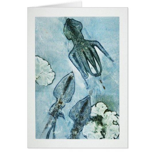 Tarjeta Debajo del mar