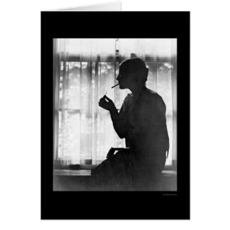 Tarjeta Debutante, éster Cochran, fumando 1924