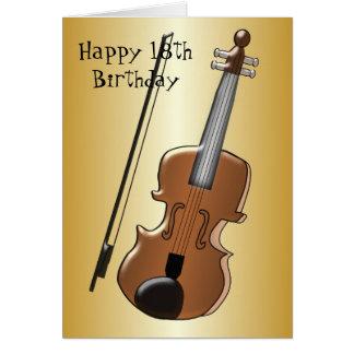 Tarjeta Décimo octavo cumpleaños del violín