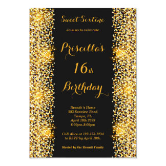 Tarjeta décimosexto Mujer de la fiesta de cumpleaños,