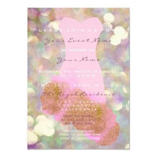 Tarjeta Décimosexto violeta nupcial del vestido del oro