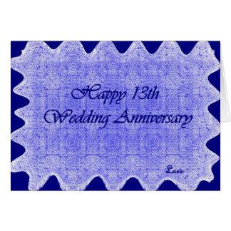 Tarjeta décimotercero Aniversario de boda