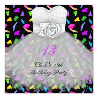 Tarjeta décimotercero Chicas marchosas 13 del cumpleaños