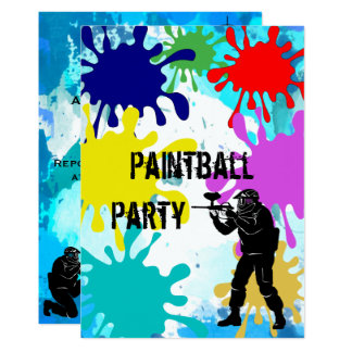 Tarjeta Décimotercero cumpleaños de Paintball