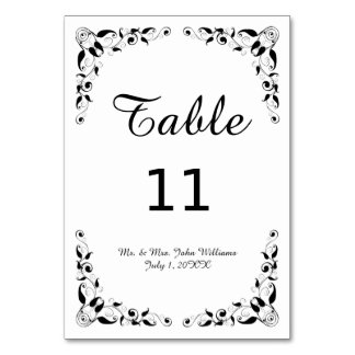 Tarjeta decorativa blanco y negro de la tabla de