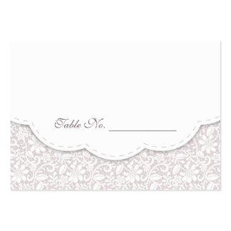 Tarjeta decorativa del lugar de la tabla del boda tarjetas de visita grandes
