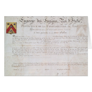 Tarjeta Decreto de la nobleza creado debajo del primer