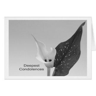 Tarjeta Deepest Condolences