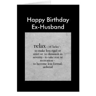 Tarjeta Definición del exmarido del cumpleaños del humor