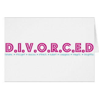 Tarjeta Definición femenina del divorcio