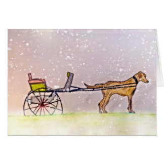 Tarjeta ¡Dejáis le nevar!