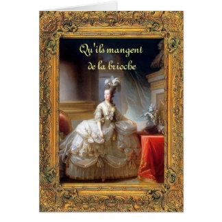 Tarjeta Déjelos comer la torta Marie (francés) Antonieta