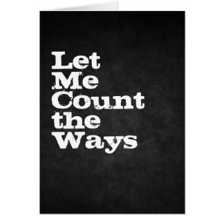 Tarjeta déjeme contar las maneras
