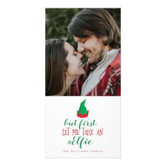 Tarjeta Déjeme tomar el navidad de un Elfie