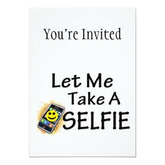 Tarjeta Déjeme tomar un Selfie