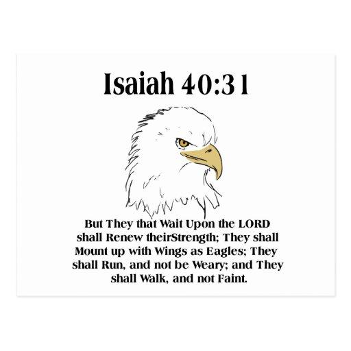 Tarjeta del 40:31 de Isaías Tarjeta Postal