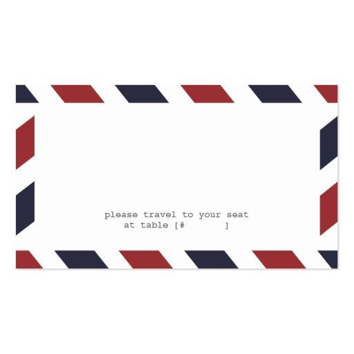 Tarjeta del acompañamiento del correo aéreo plantillas de tarjetas de visita