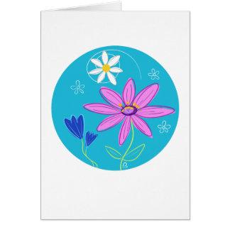 Tarjeta del adorno de la flor