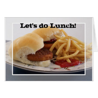 tarjeta del almuerzo