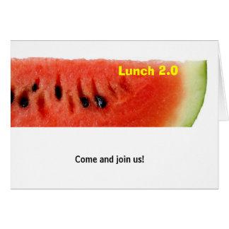 Tarjeta del almuerzo 2,0 - sandía