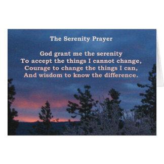 Tarjeta del amanecer de la serenidad