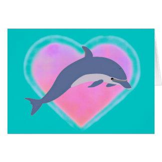 Tarjeta del amor del delfín