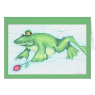 Tarjeta del amor del Froggy