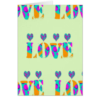 Tarjeta del amor y del corazón de la tarjeta del