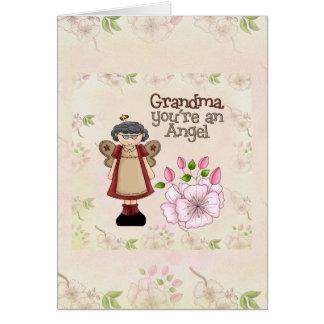 Tarjeta del ángel de la abuela