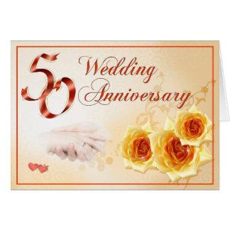 Tarjeta del aniversario de boda 50