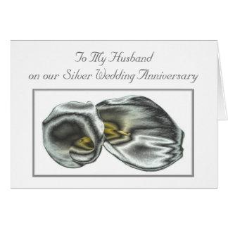Tarjeta del aniversario de bodas de plata