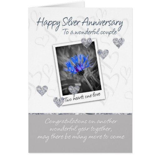 Tarjeta del aniversario de bodas de plata - 25 año