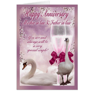 Tarjeta del aniversario de la suegra y del suegro