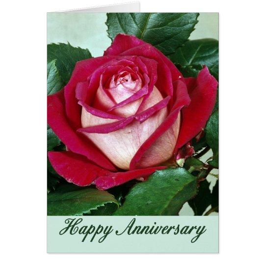 Tarjeta del aniversario de las flores 507