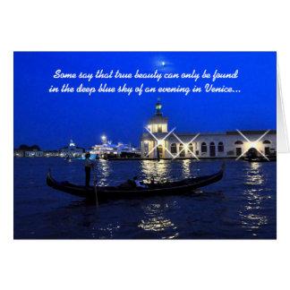 Tarjeta del aniversario de Venecia