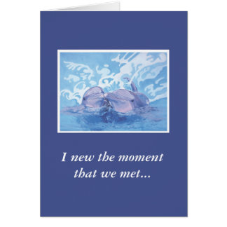 Tarjeta del aniversario del delfín