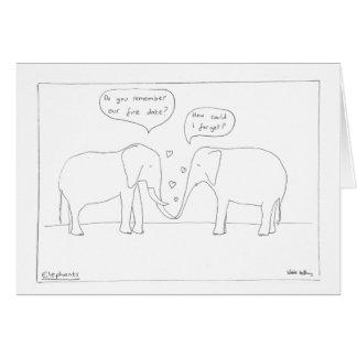 Tarjeta del aniversario del elefante